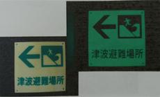 広域避難場所(津波避難場所等の看板)